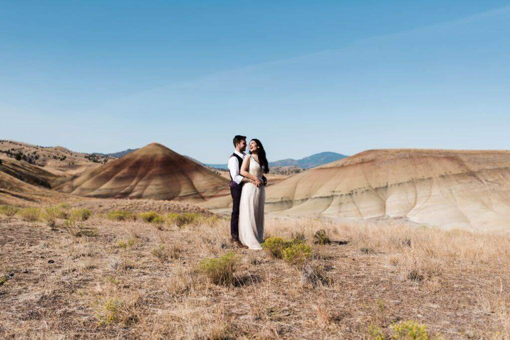 Painted Hills Elopement | S Photography | Pacific Northwest Adventure Photographer