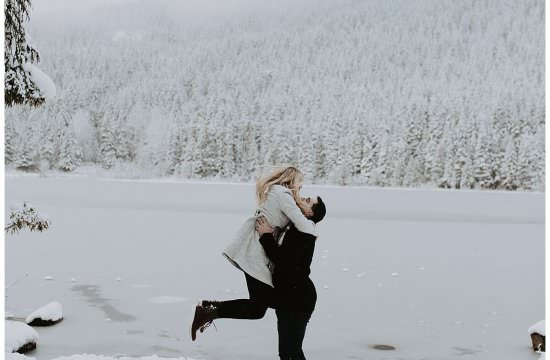 Mt Hood Trillium Lake Adventure Engagement Session | S Photography | Pacific Northwest Adventure Photographer