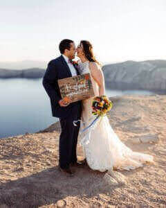 Crater Lake National Park Elopement We Eloped Sign