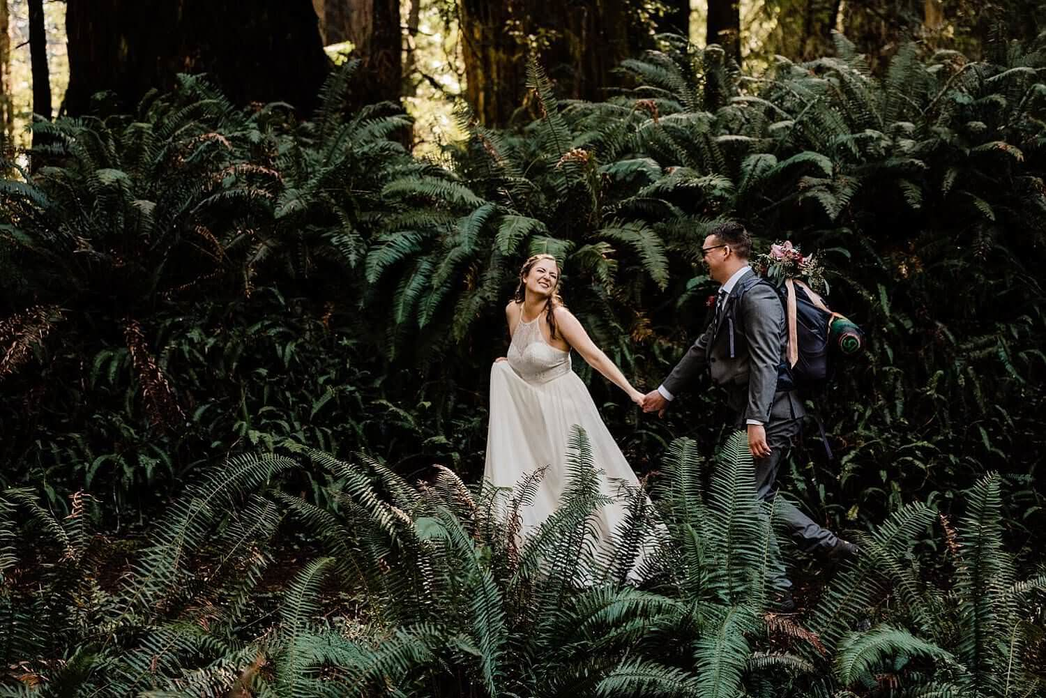 Redwoods elopement, adventure elopement photographer