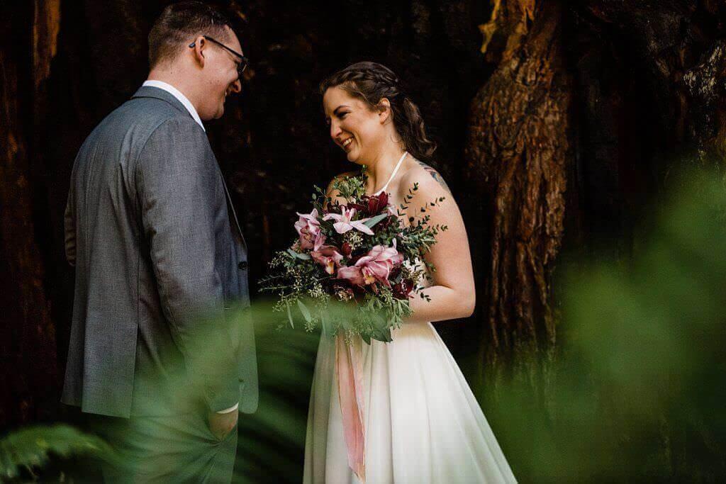 Redwoods elopement, adventure elopement photographer