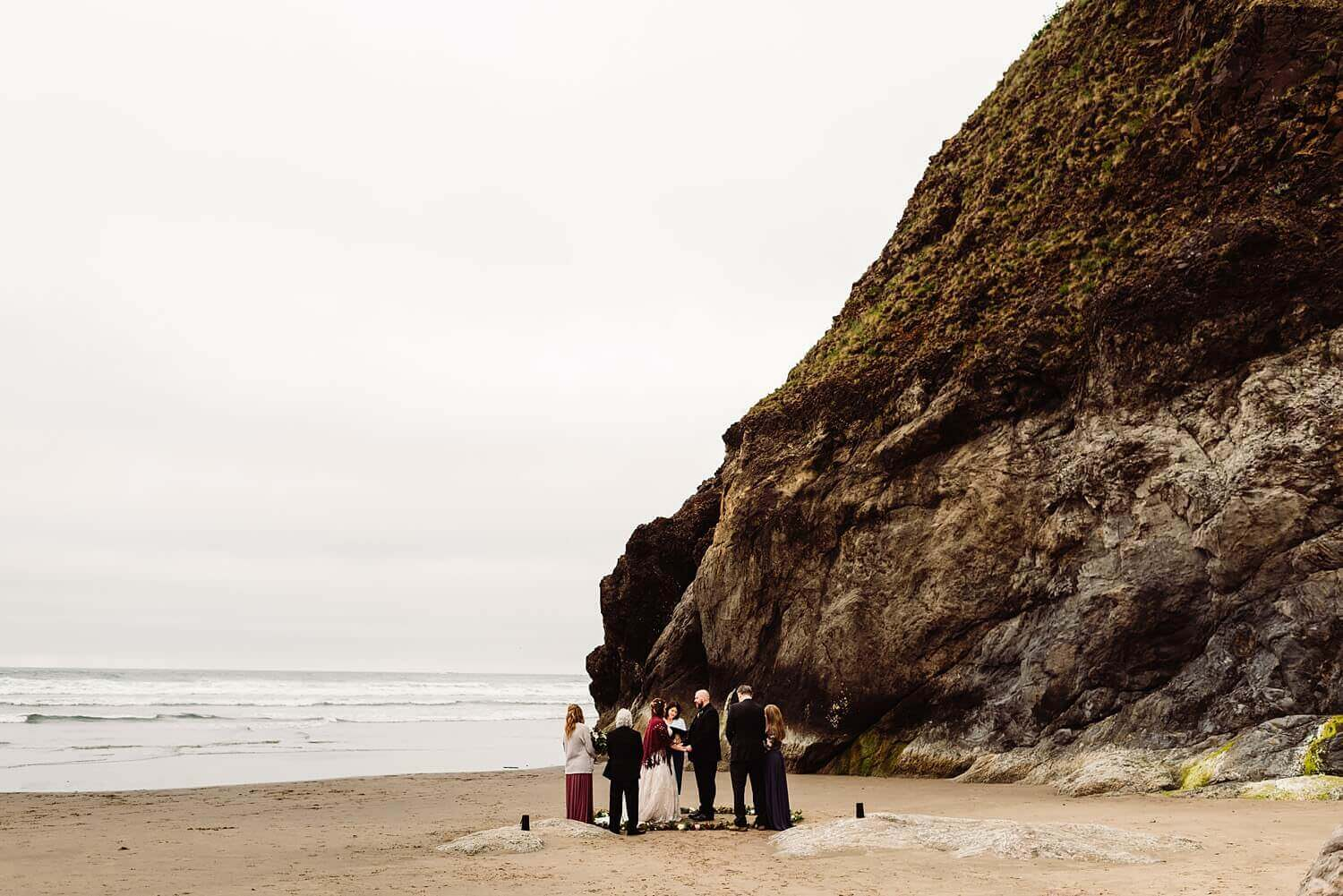 Elope in Oregon,Oregon Coast Elopement,adventure elopement photographer,arcadia beach,boho wedding,cannon beach,oregon wedding photographer,pacific northwest,tiny wedding,
