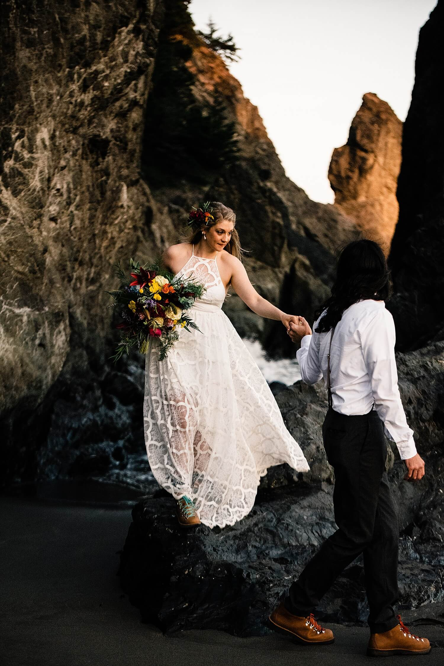 Oregon Coast Elopement,adventure elopement photographer,avenue of the giants,boho bride,california,coastal redwoods,elope,elopement,fire jumping,intimate wedding,jedediah smith,jedediah smith redwoods,national park,norcal,oregon coast,oregon coast wedding,prairie creek,redwoods,redwoods elopement,redwoods wedding,small wedding,solstice wedding,state park,