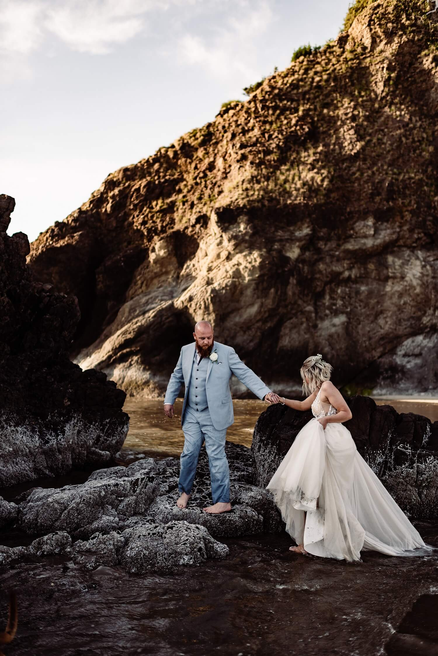adventure elopement photographer,arcadia beach,avenue of the giants,boho bride,california,cannon beach,elope,elopement,intimate wedding,jedediah smith,national park,norcal,north coast,oregon coast,oregon wedding,pampas grass,prairie creek,redwoods,sam starns photography,small wedding,state park,triangle arch,wedding,