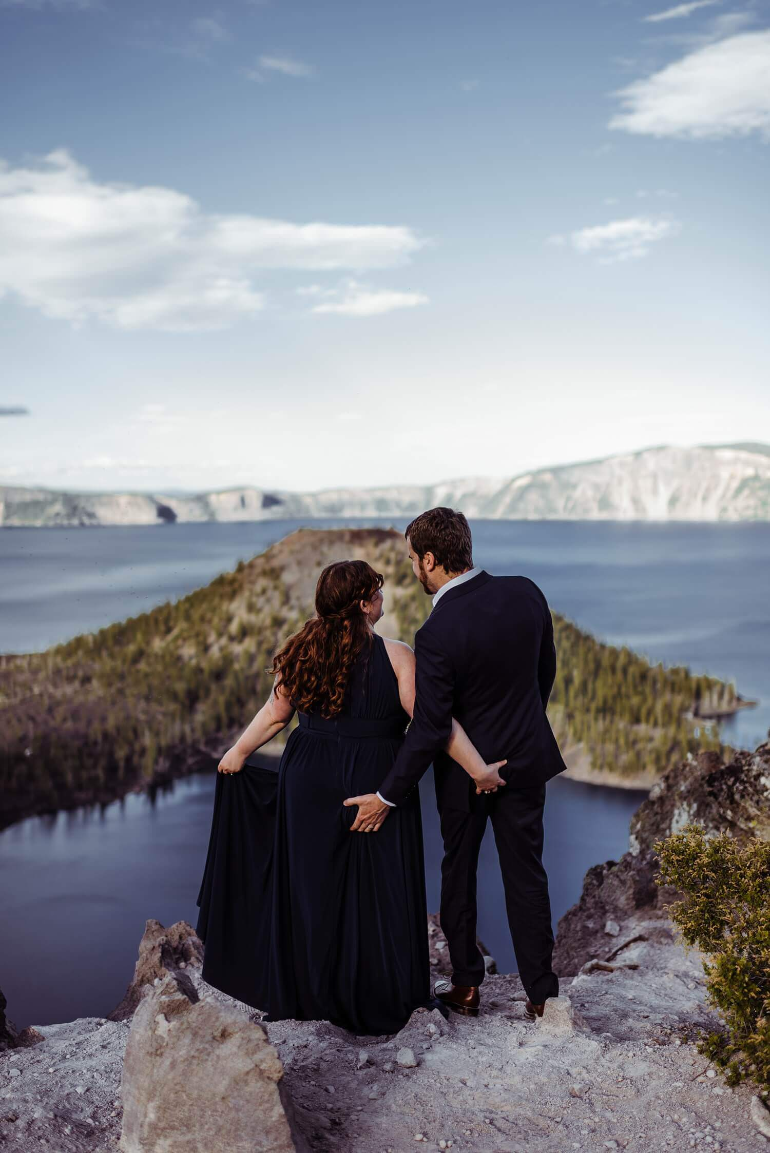 Crater Lake,adventure elopement photographer,adventure photographer,adventure session,elope,elopement,intimate wedding,jesse butler,kim butler,national park,oregon,pacific northwest,sam starns,vow renewal,