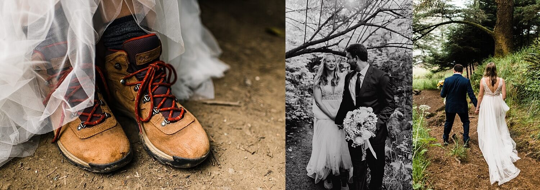 Brookings Oregon elopement, first look