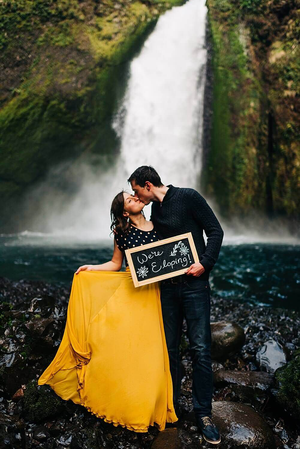 Oregon,Portland,Sam Starns,Wachlella Falls,adventure session,engagement session,waterfall engagement session,